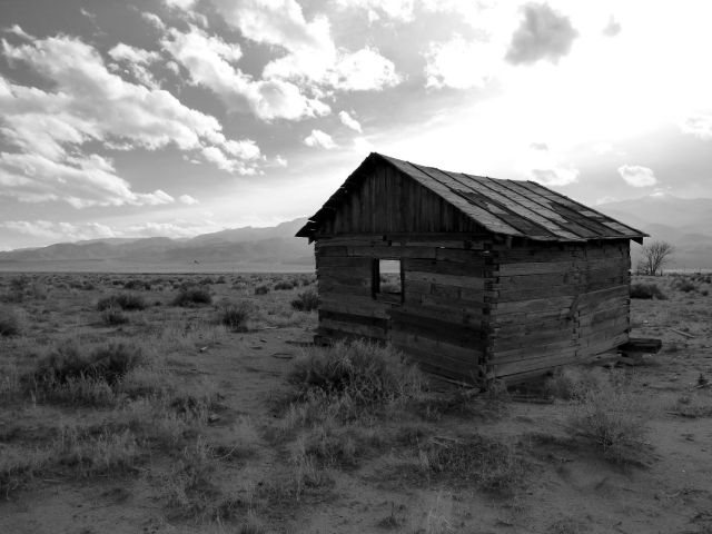 Weathered cabin in Fish Lake Valley, NV