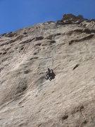 Rock Climbing Photo: Myong climbing Cheryl's Peril.
