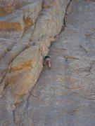 Rock Climbing Photo: Simon leading Moby Grape.