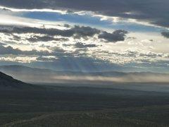Rock Climbing Photo: Dust storm 1, NV