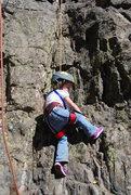 Rock Climbing Photo: Freya in action.