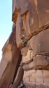 Rock Climbing Photo: Brad on the hard bouldery move to establish in the...