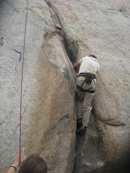 Rock Climbing Photo: Nathan Fitzhugh belayed by Agina Sedler.