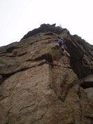 Rock Climbing Photo: Nice, it climbs steeper than it looks.
