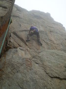 Rock Climbing Photo: Dave around the 3rd bolt or so, which is shared wi...