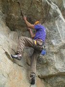 Rock Climbing Photo: The undercling.