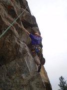 Rock Climbing Photo: The nice foot hold.