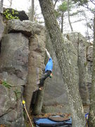 Rock Climbing Photo: Vinny going after it.