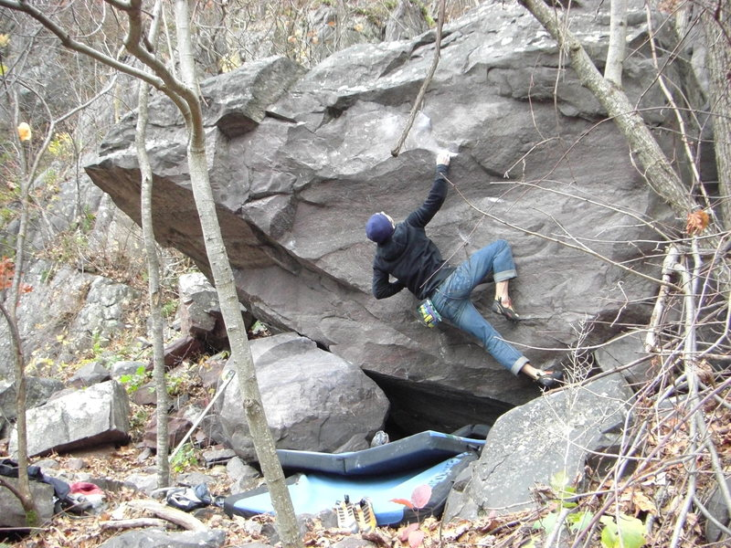 Rock Climbing Photo: Setting up.