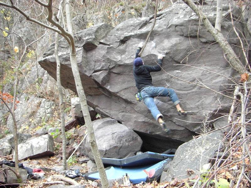 Rock Climbing Photo: So close...