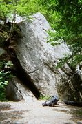Rock Climbing Photo: The Cave Problem on the left and The Top Rope Prob...