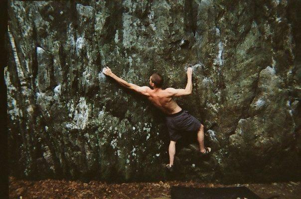 Rock Climbing Photo: Doing the Workout Traverse