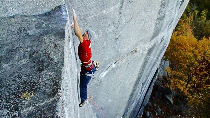 Rock Climbing Photo: Eric Singleton sticking the crux on Waste Not Want...