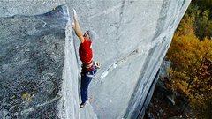 Rock Climbing Photo: Eric Singleton sticking the crux on Waste Not Want...