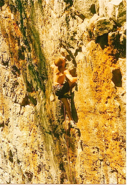Rock Climbing Photo: shredding
