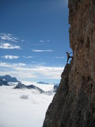 Rock Climbing Photo: Joe T on the Tofana de Rozes.
