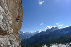 Rock Climbing Photo: Mark Richey at Cinque Torre