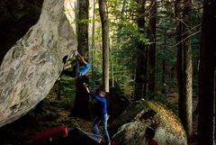 Rock Climbing Photo: Crankin'. Photo by Seth Hamel.
