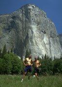 Rock Climbing Photo: Peter Coward and Joe T - 1995 NIAD