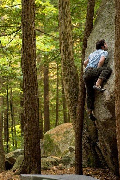 Rock Climbing Photo: Emile Menin crushing The Terrorist.  Seth Hamel Ph...