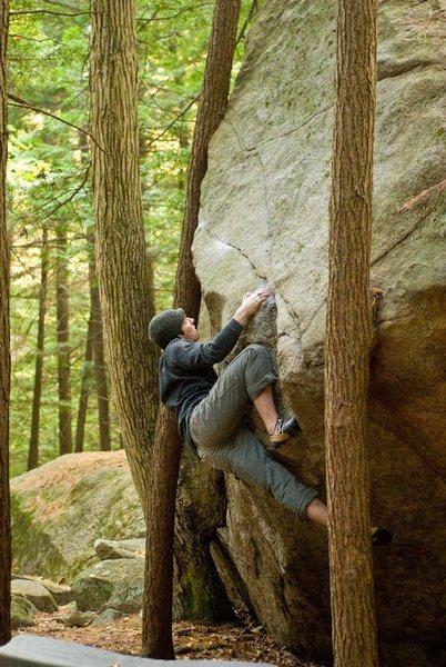 Rock Climbing Photo: Opening move.  Seth Hamel Photo.