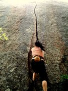 Rock Climbing Photo: Seri starting Little Feat