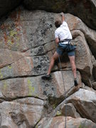 Rock Climbing Photo: Pulling the crux.