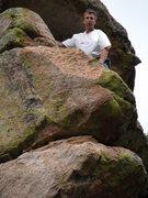 Rock Climbing Photo: At the anchors.