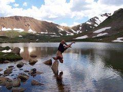 Rock Climbing Photo: herman lake