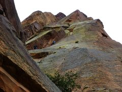 Rock Climbing Photo: SteveZ finishing pitch 3 of Cloud Tower, another p...