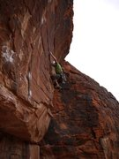 Rock Climbing Photo: The lower easy section.  Never did stick the crux,...