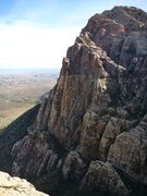 Rock Climbing Photo: Cloud Tower and Crimson Crysalis from high up on t...