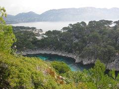 Rock Climbing Photo: En Vau...follow the turquoise.