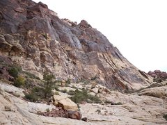Rock Climbing Photo: The approach slabs and northern section of the Bro...