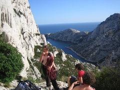 Rock Climbing Photo: Tough day in Morgiou.