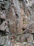 Rock Climbing Photo: Base, follow right of rope to start on the obvious...