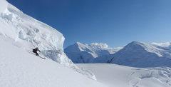 Rock Climbing Photo: Skiing on Denali - the fast way down!