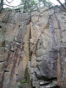 Rock Climbing Photo: Bolts visible on chocolate coloured streak on left...