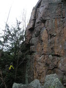 Rock Climbing Photo: Tough couple bolted climbs at end of Bob's Wall