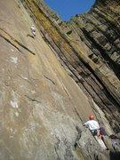 Rock Climbing Photo: Halfway up Lost Horizon (photo by Phil Ashton)