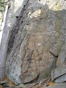 Rock Climbing Photo: Route starts on transition from different coloured...