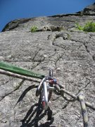 Rock Climbing Photo: Most belays are on big eye bolts.