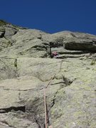 Rock Climbing Photo: This is in the first half of the climb. The easy s...