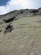 Rock Climbing Photo: Pitch one. Climber (me) in the left start with ano...