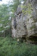 Rock Climbing Photo: Climbing on the south side of the main area at Lak...