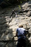 Rock Climbing Photo: The Quest for Sticky Stuff, 5.9
