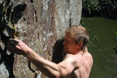 Rock Climbing Photo: Ripple Boulder Arete, 10c.