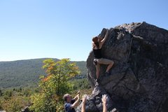 Rock Climbing Photo: Erica cruising Windy Heights