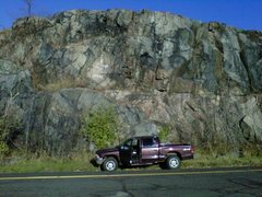 Rock Climbing Photo: CLIMBED STRAIGHT UP FROM FRONT DOORS OF MY TRUCK.....