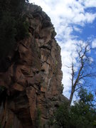 Rock Climbing Photo: The top traverse of Angel's Delight can be seen ri...